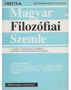 Magyar filozófiai szemle 1997/3-4 - Lendvai L. Ferenc, Áron László