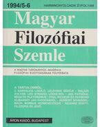 Magyar Filozófiai Szemle 1994/5-6 - Lendvai L. Ferenc