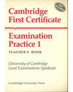 Cambridge First Certificate Examination Practice 1 - Teacher's Book - Leo Jones