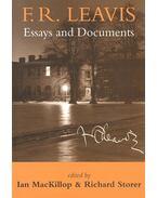 F,R, Leavis – Essays and Documents - MacKILLOP, IAN