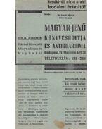 Magyar Jenő Könyvesboltja és Antiquariuma 158. sz. árjegyzék