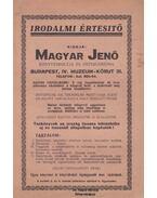 Magyar Jenő Könyvesboltja és Antiquáriuma Irodalmi Értesítője