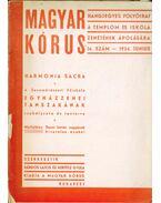 Magyar kórus 1934/14. szám június - Bárdos Lajos, Kertész Gyula