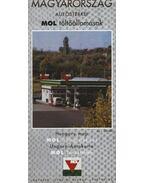 Magyarország autóstérkép MOL tötőállomások