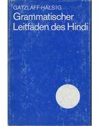 Grammatischer Leitfaden des Hindi - Margot Gatzlaff-Halsig