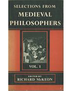 Selections from Medieval Philosophers Vol. 1 - McKEON, RICHARD