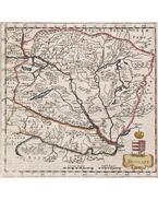 Hungary, Hungaria. Herman Moll londoni térképész Magyarország-térképe (1695) - Moll, Herman