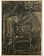 Nő támlás széken - Nagy István