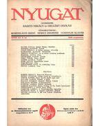Nyugat 1935 XXVIII. évf. 9.szám - Babits Mihály, Gellért Oszkár
