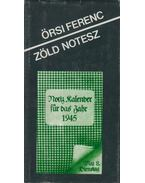 Zöld notesz (dedikált) - Örsi Ferenc
