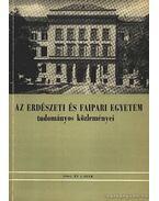 Az Erdészeti és Faipari Egyetem tudományok közleményei 1964. 1. szám - Pankotai Gábor