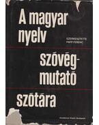 A magyar nyelv szóvégmutató szótára - Papp Ferenc