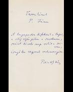 """Pilinszky János (1921–1981) """"A tengerpartra"""" című versének autográf kézirata a költő """"Végkifejlet"""" című kötetének első előzékén - Pilinszky János"""