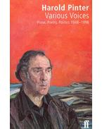 Various Voices - Pinter, Harold