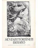 Művészettörténeti értesítő XXIV. évf. 1. szám - Pogány Ö. Gábor