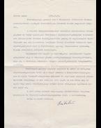 Rába György (1924–2011) költő, író, Babits-kutató egy gépelt oldal terjedelmű köszönőlevele Belia Györgyné Sándor Anna tanárnőnek, a levél végén Rába György saját kezű aláírásával. - Rába György