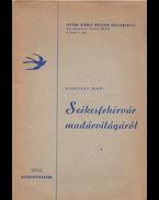 Székesfehérvár madárvilágáról - Radetzky Jenő