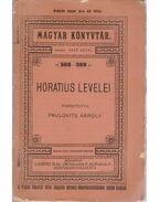 Horatius levelei - Radó Antal, Horatius