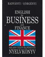 English for Business and Finance - Radványi Tamás, Görgényi István