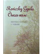 Reviczky Gyulaösszes verse I-II. - Kritikai kiadás - Reviczky Gyula