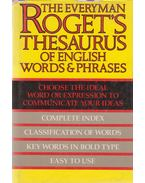 Roget's Thesaurus of English Words and Phrases - Roget, Peter Mark