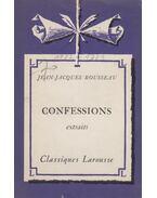 Confessions - extraits - Rousseau, Jean-Jacques