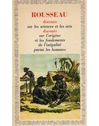 Discours sur les sciences et les arts / Discours sur l'origine de l'inégalité - Rousseau, Jean-Jacques