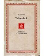 Vallomások - Rousseau, Jean-Jacques
