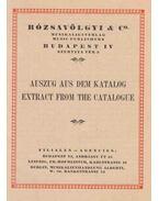 Rózsavölgyi & Co. - Auszug aus dem Katalog [Kivonat az árjegyzékből]
