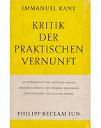 Kritik der Praktischen Verkunft - Kant, Immanuel