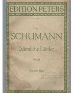 Sämtliche Lieder Band I. - Schumann