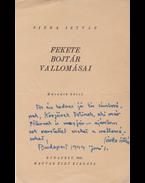 Sinka István (1897–1969) költő, író dedikációja Fekete bojtár vallomásai című munkája második kötetének címlapján - Sinka István