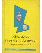 Kerámia- és porcelánipari szakmai ismeretek III. - Szabó Pál, Fábián Nagy László