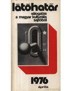 Látóhatár 1976 Április - Szabolcsi Miklós