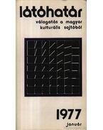 Látóhatár 1977 Január - Szabolcsi Miklós