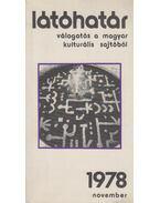 Látóhatár 1978. november (dedikált) - Szabolcsi Miklós