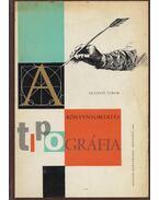 Tipográfia - Szántó Tibor
