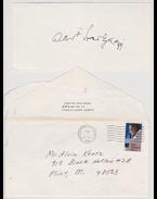Szent-Györgyi Albert orvosprofesszor saját kezű aláírása (1986) - Szent-Györgyi Albert