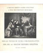 Orlai Petrich Soma emlékkiállítás - Szíj Béla