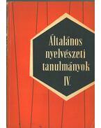 Általános nyelvészeti tanulmányok IV. - Telegdi Zsigmond