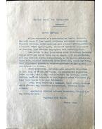 Thorma Jánosról levele a Szinyei társaságnak