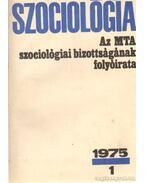 Szociológia  1975. (teljes) - Több szerkesztő