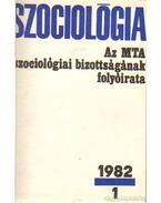 Szociológia  1982. (teljes) - Több szerkesztő