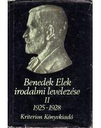 Benedek Elek irodalmi levelezése II. 1925-1928 - Több szerző, Benedek Elek