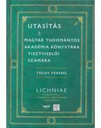 utasítás a magyar tudományos akadémia könyvtára tisztviselői számára - Toldy Ferenc