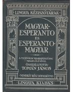 Magyar-Esperanto és Esperanto-Magyar kisszótár - Tomán János