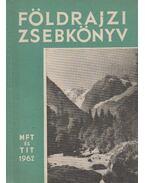 Földrajzi zsebkönyv - Tóth Aurél, Miklós Gyula, Vasváry  Artúz