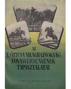 Az V. öttusa világbajnokság lovasversenyének tapasztalatai - Tóth Béla