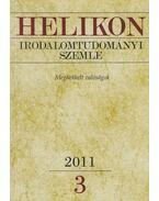 Helikon irodalomtudományi szemle 2011/3 - Varga László