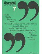 Tiszatáj 1977. július 31. évf. 7. - Vörös László